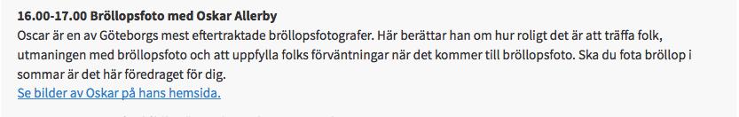 OskarAllerby föreläser på scandinavian photo