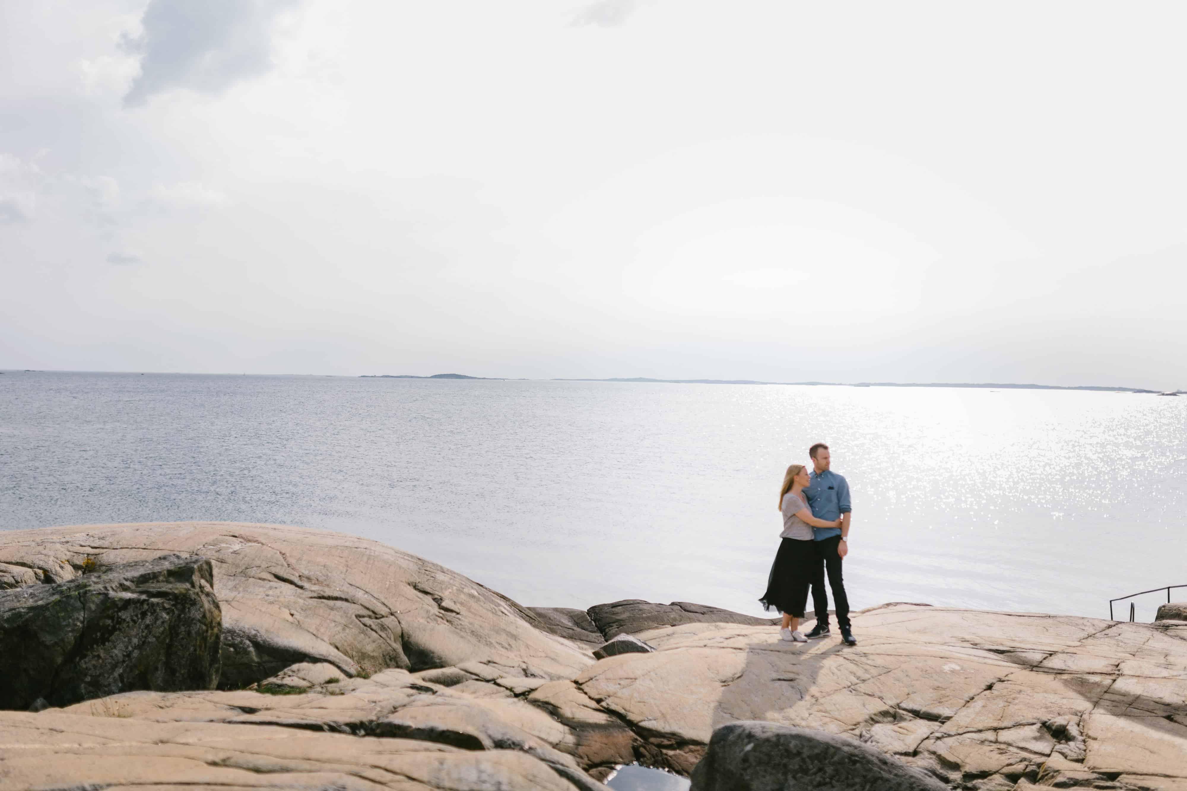 Marie-Louise och Jonas  förfoto på Amundön fotograferade en s