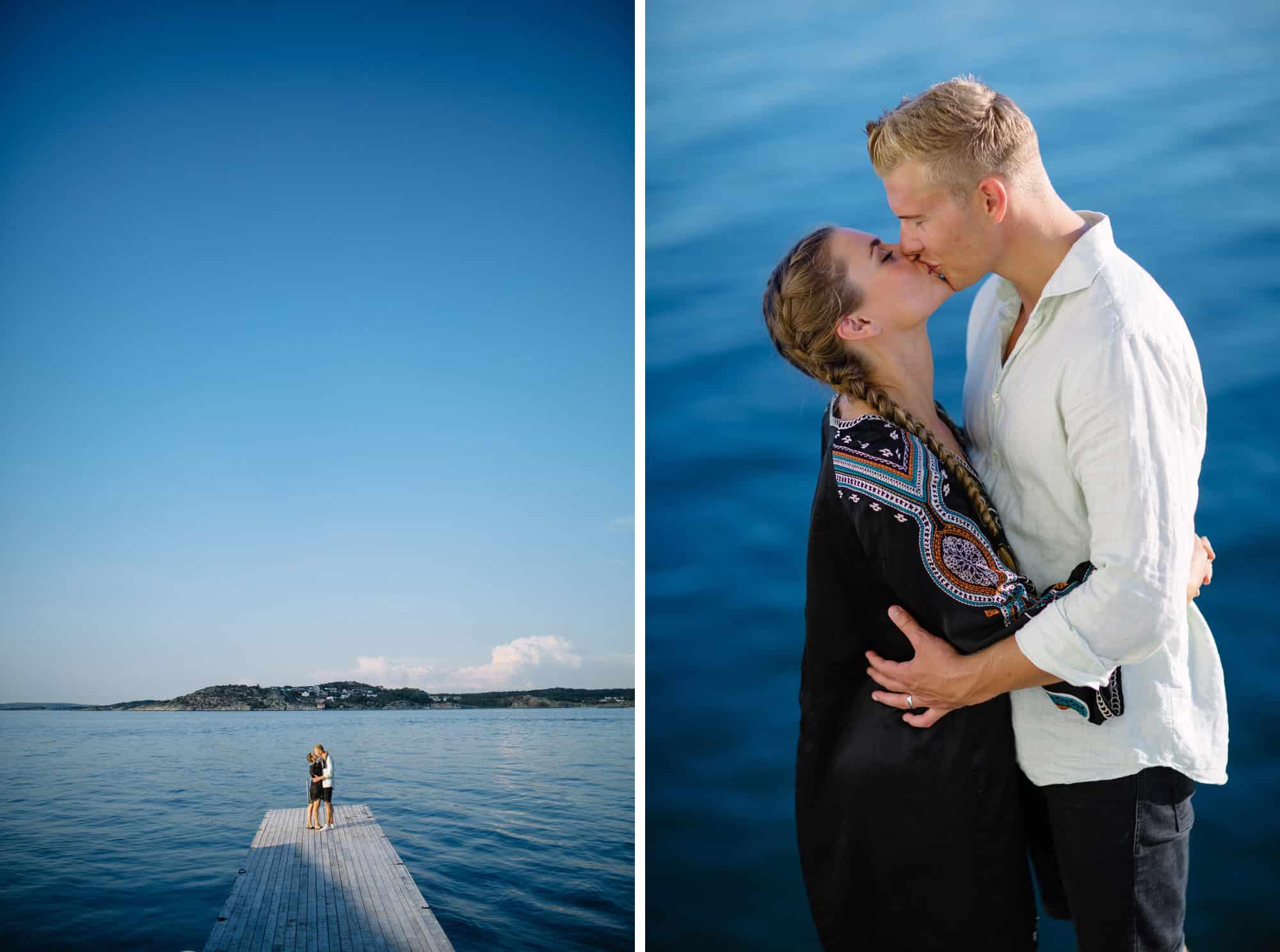 Felicia & Philip förfoto på Björkö  fotograferade en sommarkväll av Oskar Allerby