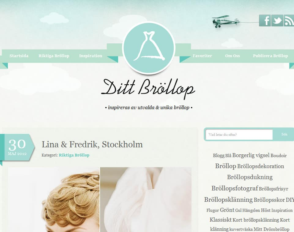 Lina & Fredrik is blogged   weddings